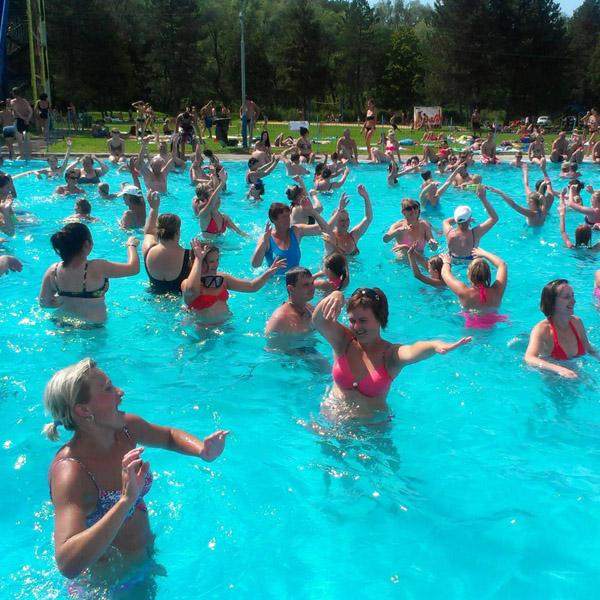 veselý aquaerobik vo Svidníku