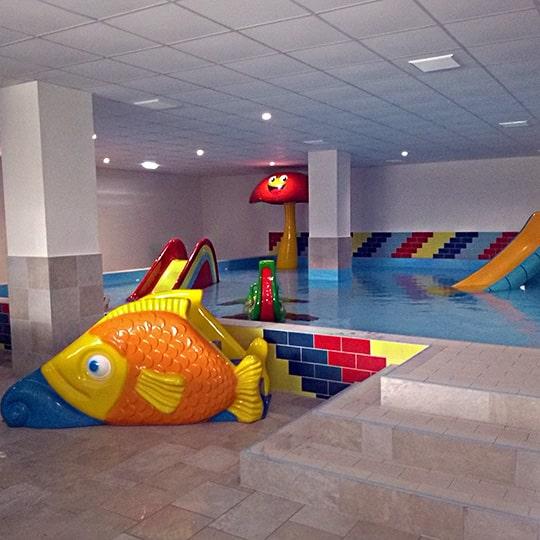 vnútorný masážny bazén